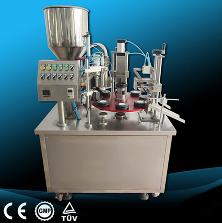 paste tubes cream containers lotion honey filling sealing machine semi automatic filler and sealer equipment for cosmetics pharmaceutical packaging