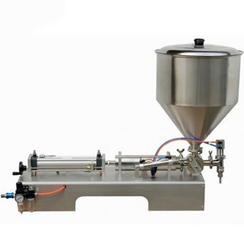 Cream pepper sauce filling machine high viscosity liquid filler equipment semi automatic pneumatic filling machinery