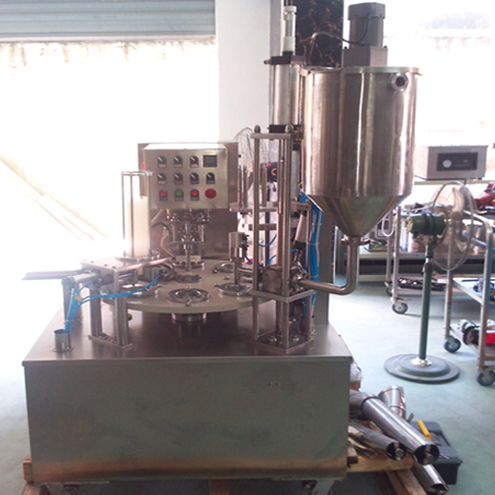 Rotary cups filling sealing machine cream juice butter jelly round cup filler and sealer equipment