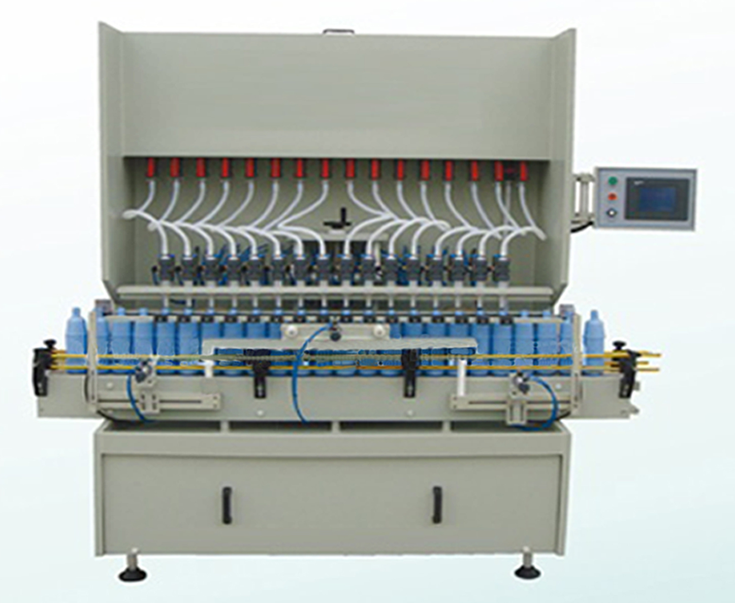 Strong liquid filling machine automatic linear anti corrosive filler equipment for bleaching detergent disinfection liquid