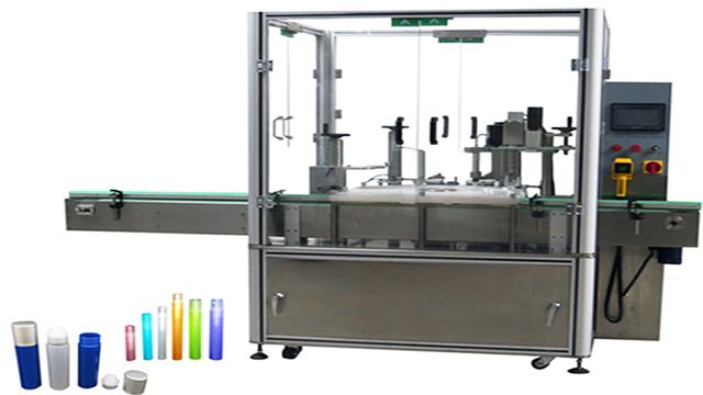 Nail polish eye drops filling capping machine with mechanic robot fully automatic rotary filler capper servor motor system