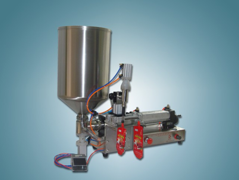 spout bags stand up bag juice liquid filling machine semi automatic with single head one filling nozzle cream filler