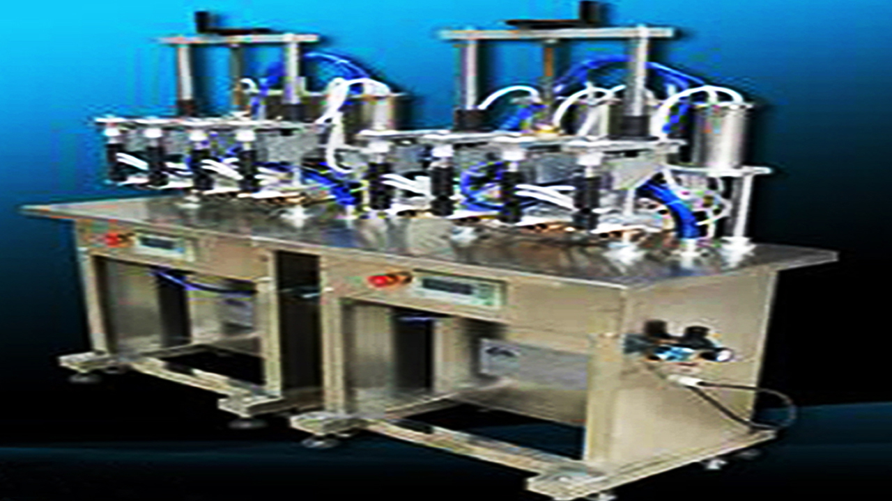 4 heads Semi-automatic Filling Machine for Perfume nail polish vacuum liquid filler equipment for glass bottles