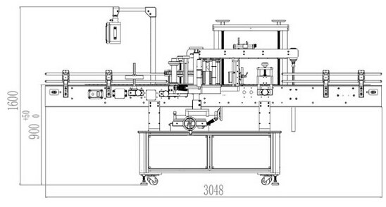 work flow of bottles labeling machine double sided.jpg