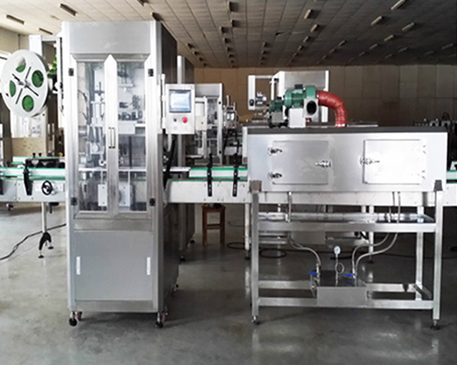 Single tapes adhesive transparent shrink sleeve labeling machine with oven tunnel heating customized labeller mould support for round tape