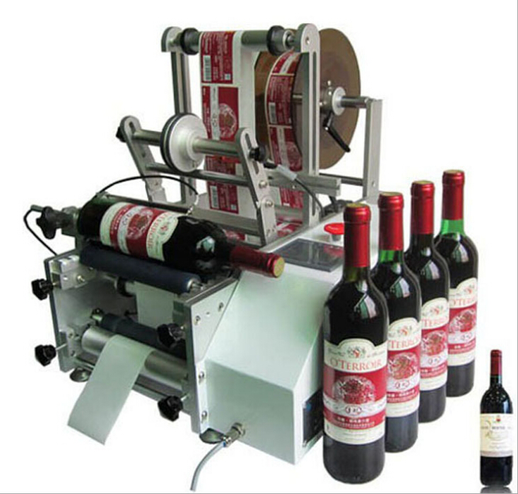 Red Wine Bottles Labeling Machine Manual Labeler Equipment