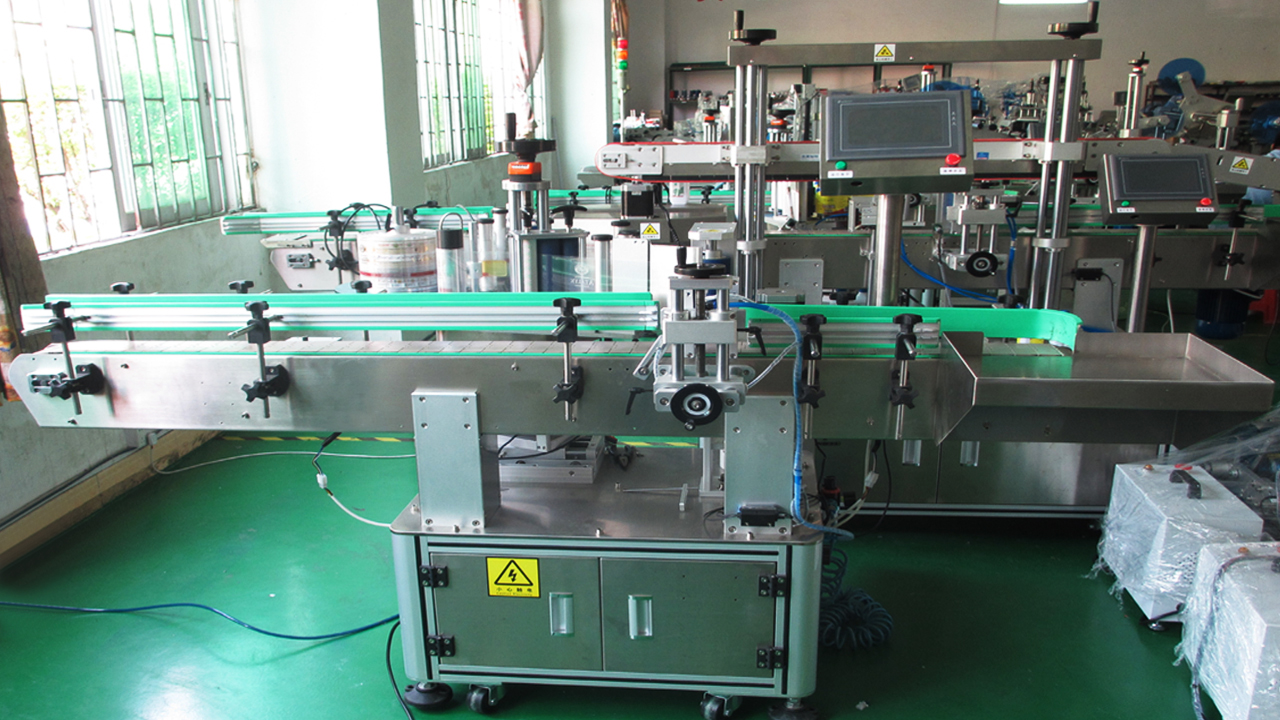 Round metal cans labeling machines automatic vertical easy open cans labeller equipment