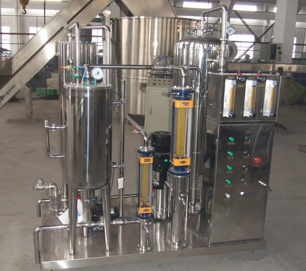 Carbonated drinks CO2 liquid blending tank mixing equipment beverage juice mixer machinery food packaging field