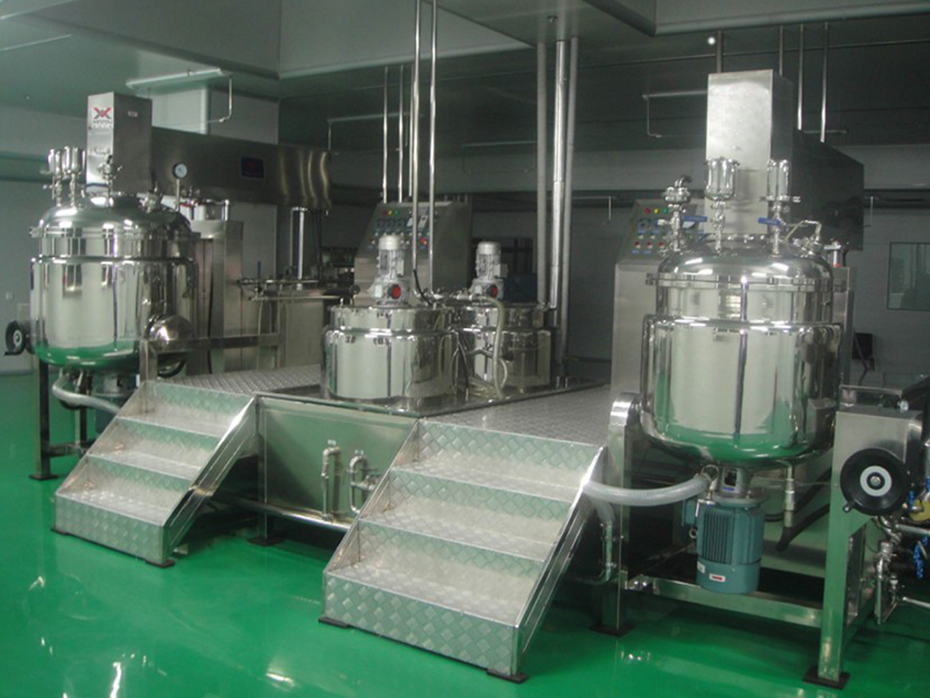 cream vacuum manufacturing machine food honey mayonnaise making machinery vacuum homogenizer emulsifier mixing equipment hydraulic