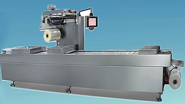 continuous stretch film vacuum sealer for small bags food packaging machinery thermoforming pack fully automatic
