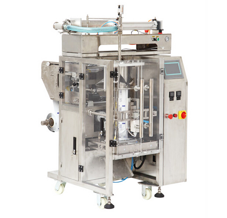 hair gel cream lotion liquid packaging machine fully automatic form fill seal equipment VFFS packaging machinery