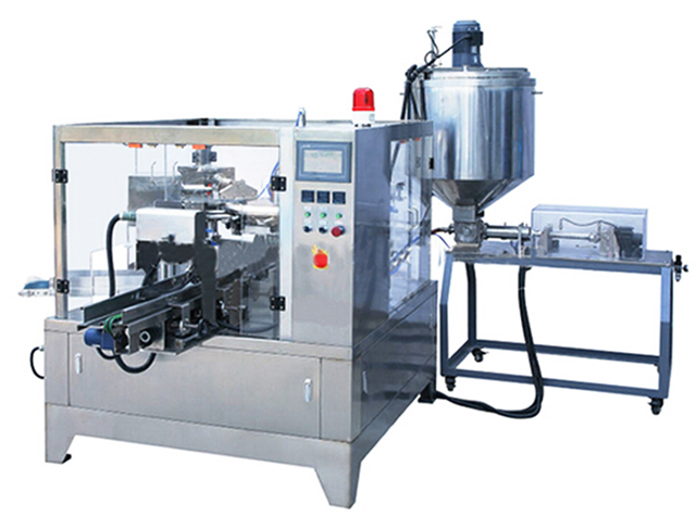 liquid honey sauce doypack packing machine for pre made stand up bags bag-given packaging equipment pouch pack