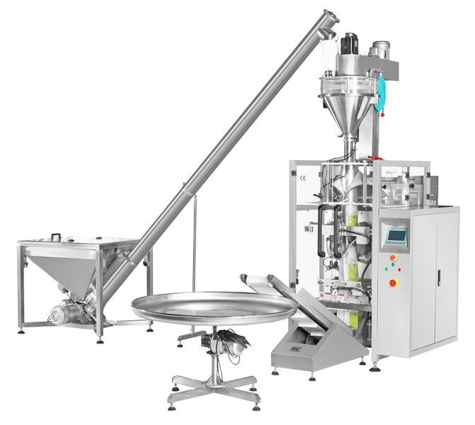 powder filling packing machines bags form fill seal equipment auger filler packaging machinery VFFS