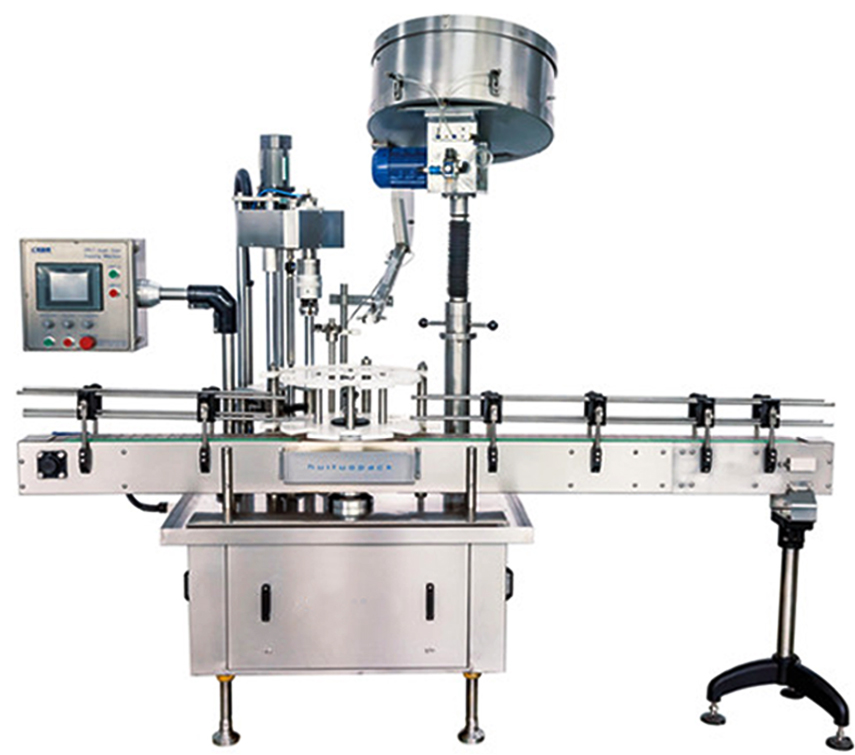 single head capping machine with caps sorter cap feeding system automatic screw capper equipment