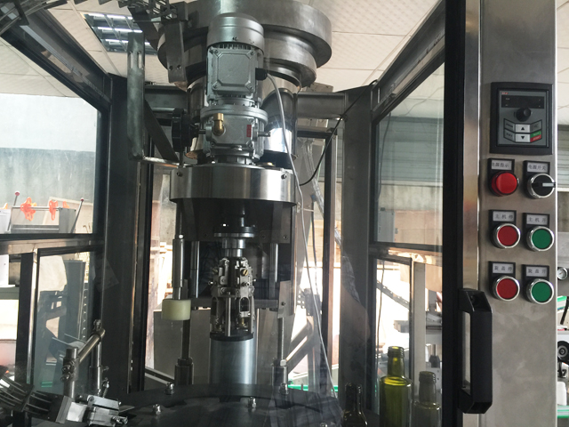 automatic inline metal caps aluminum ropp capping machinery glass bottles capper equipment screw chucking system
