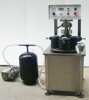 vacuum capping machine for glass jars pepper sauce container semi automatic vacuum screw capper equipment 4 capping heads