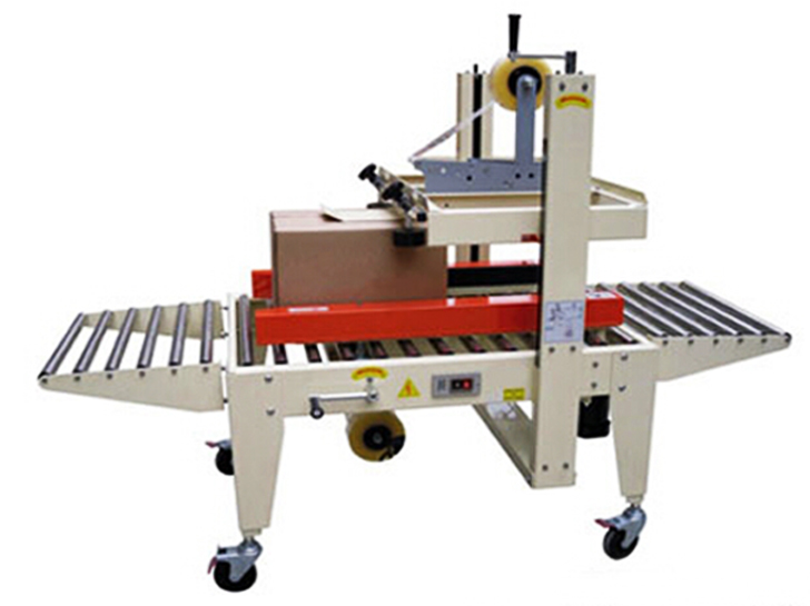 semi automatic carton sealing machine Adhesive tape carton sealer equipment top bottom side seal