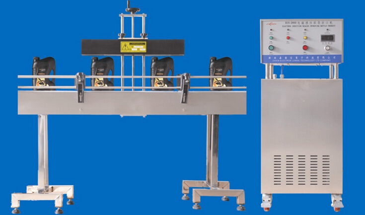 fully automatic aluminum foil waddings caps pharmaceutical induction sealing machine electromagnetic continuous sealer equipment water air double cooling way