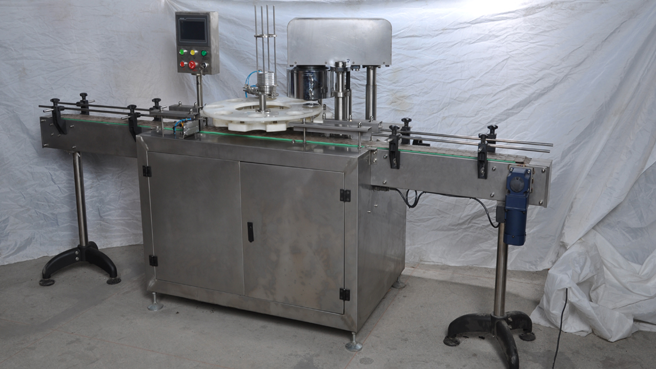 automatic canning machine for milk powder tin cans linear sealing equipment for food packaging