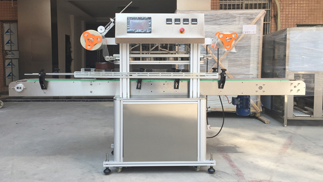 automatic HDPE Bottles jars aluminum foil Plastic film sealing machine heating sealer equipment linear coffee yogurt cup pre-cut film seal system