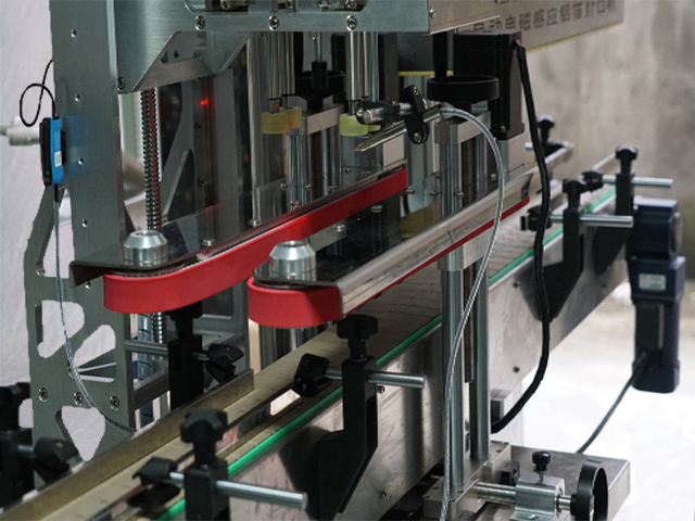 inline capping induction sealing machine automatic medical bottles capper sealer line customized equipment