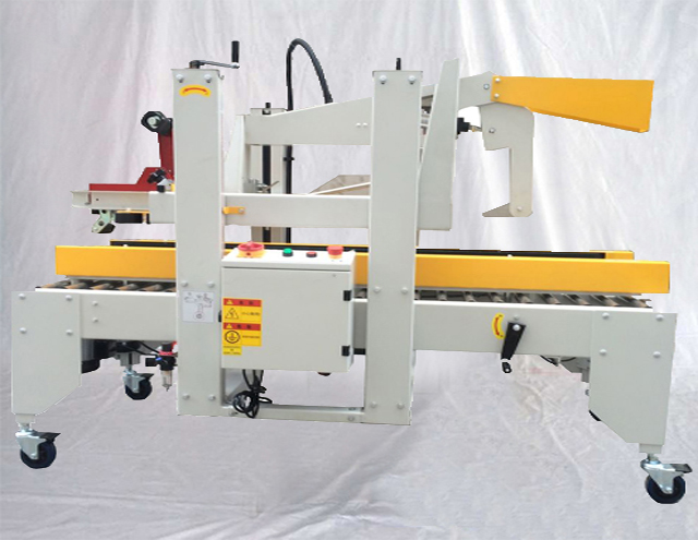 Semi automatic Boxes carton sealing machine taping equipment hard paper cartons sealer with overloading protection box