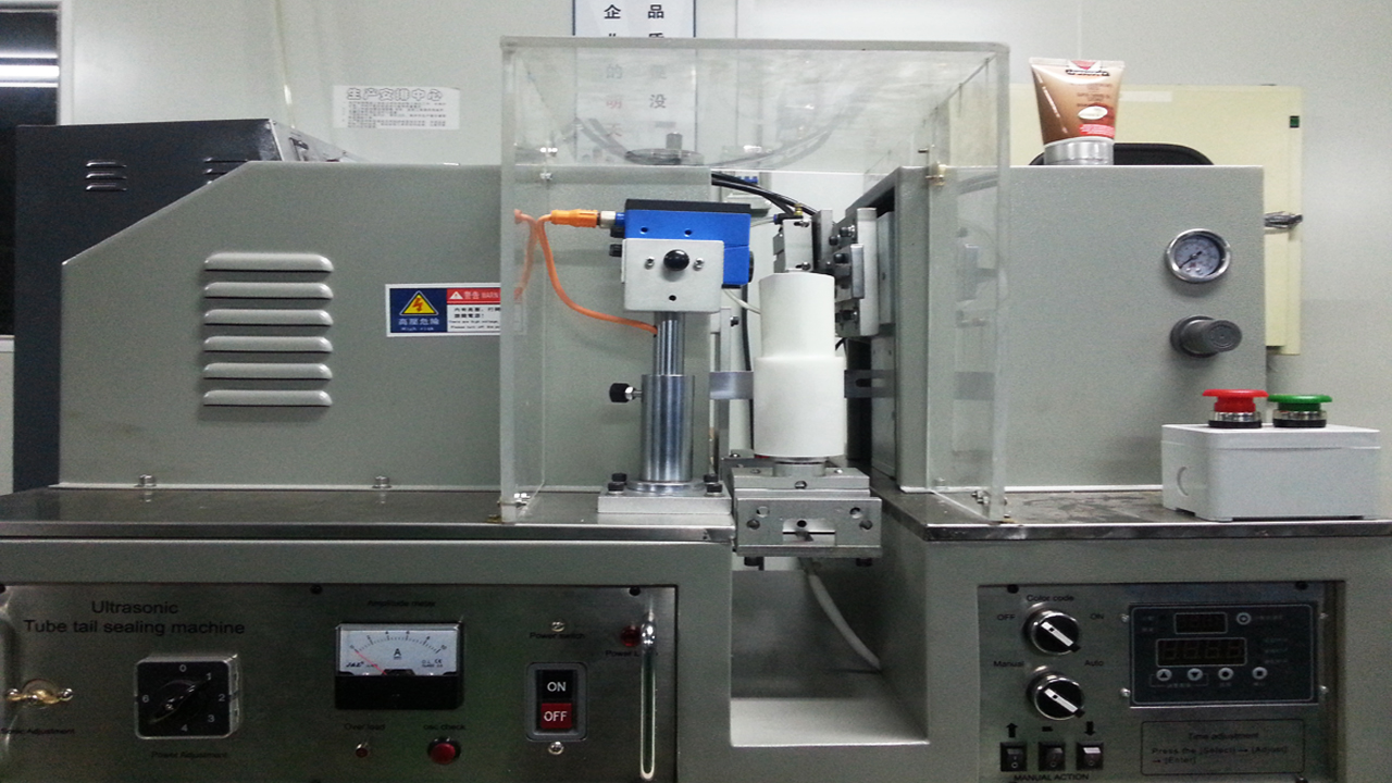 ultrasound tubes laminated plastic tube sealing equipment ultrasonic sealer machinery semi automatic